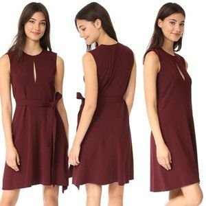 Desza Dark Currant Admiral Crepe A Line Dress 6